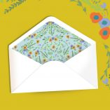Say it with Flowers - envelope liners